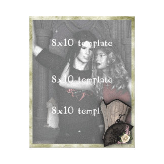 Steampunk Corset and Fan Goth Wedding Canvas Print
