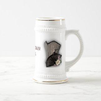 Steampunk Corset and Fan Goth Wedding Mugs