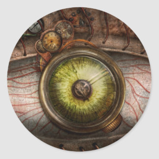 Steampunk - Creepy - Eye on technology Classic Round Sticker