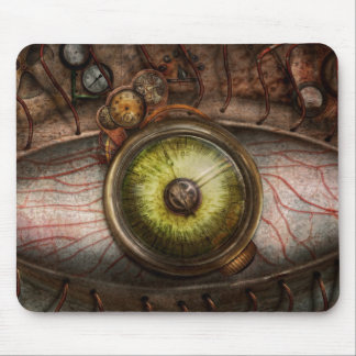 Steampunk - Creepy - Eye on technology Mouse Pad