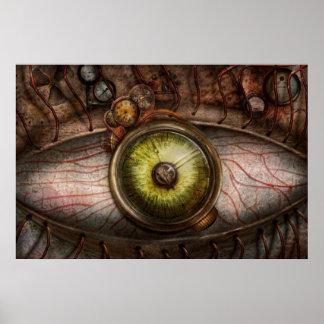 Steampunk - Creepy - Eye on technology Poster