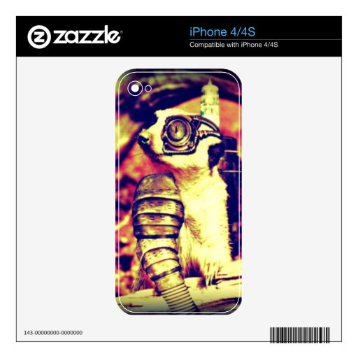 steampunk critter decals for the iPhone 4