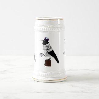 Steampunk Crow Beer Stein