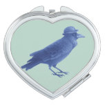 Steampunk Crow Compact Mirror