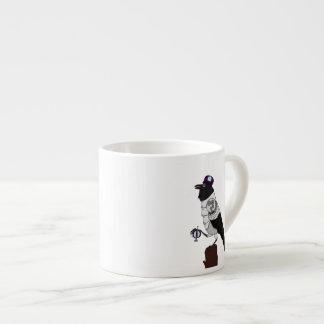 Steampunk Crow Espresso Cup