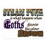 Steampunk: cuando los góticos descubren a Brown Tarjetas Postales