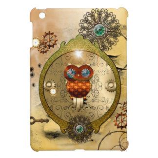 Steampunk, cute owl case for the iPad mini