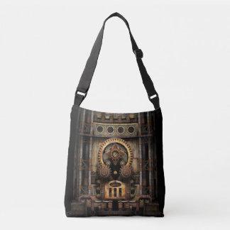Steampunk / Cyberpunk Infernal Industrial Machine Crossbody Bag
