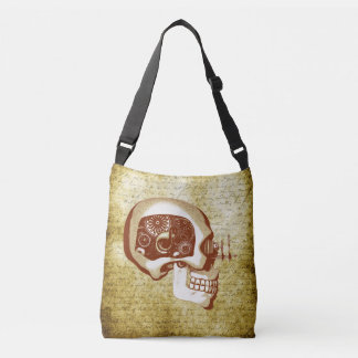 Steampunk / Cyberpunk Robot Skull Crossbody Bag