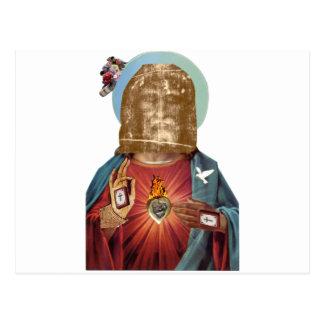 Steampunk Dada Religious Figure (Benediction Dada) Postcard