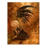 Steampunk Dark Angel Postcard