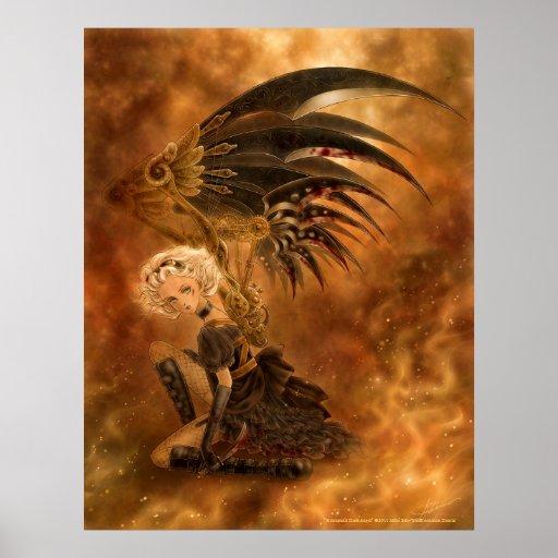 Steampunk Dark Angel Print