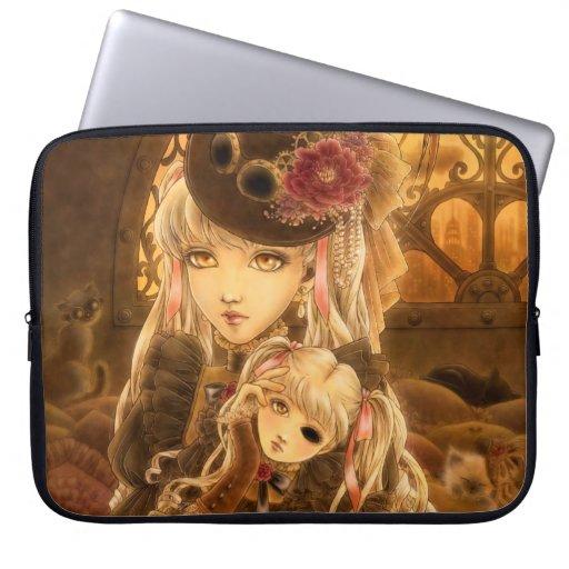 Steampunk Dark Fantasy Laptop Sleeve