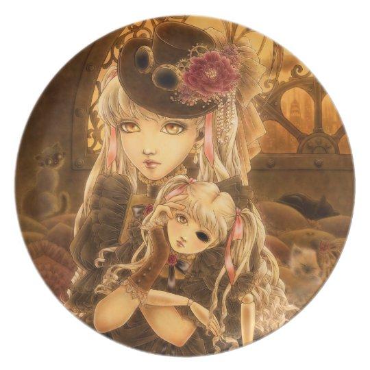 Steampunk Dark Fantasy Plate