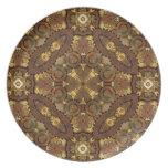 Steampunk de cobre amarillo inspiró la placa decor plato para fiesta