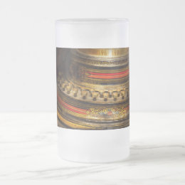 Steampunk - Death writer Frosted Glass Beer Mug