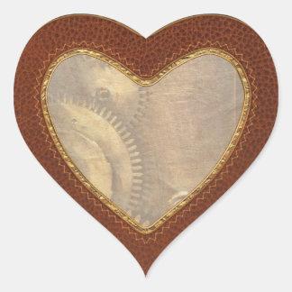 Steampunk - dentudo calcomanía corazón