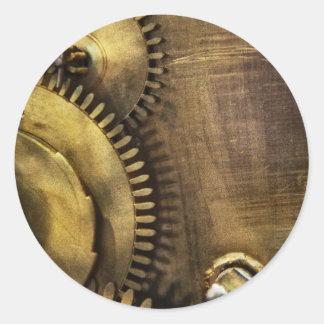 Steampunk - dentudo pegatina redonda