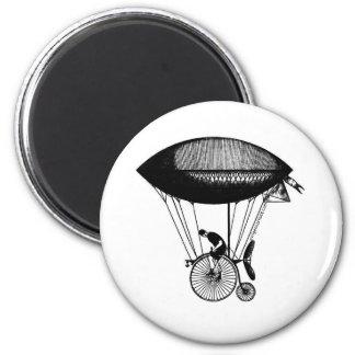 Steampunk derigicyclist 2 inch round magnet
