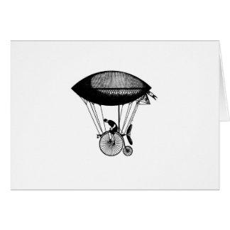 Steampunk derigicyclist greeting card