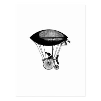 Steampunk derigicyclist postcards