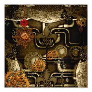 Steampunk design with clocks and gears magnetic card