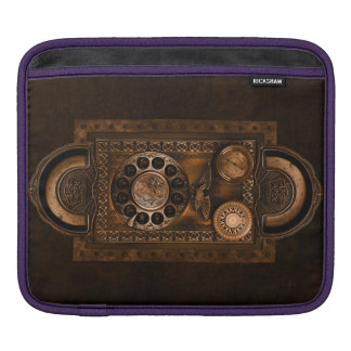 Steampunk Design with Dials and Gauges, Brown Sleeve For iPads