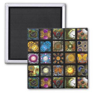Steampunk Designs 2 Inch Square Magnet
