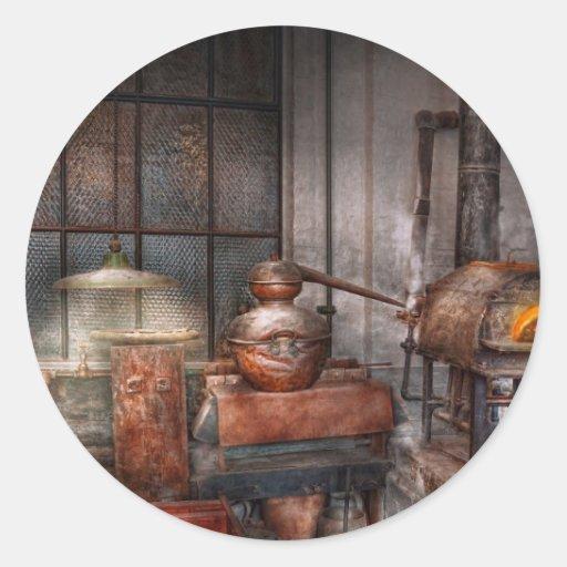 Steampunk - destilería privada pegatina
