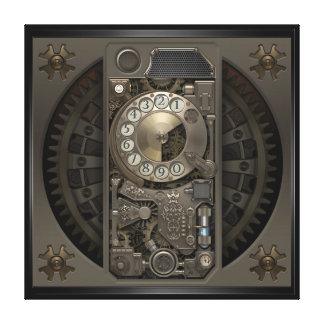 Steampunk Device - Rotary Dial Phone. Canvas Print