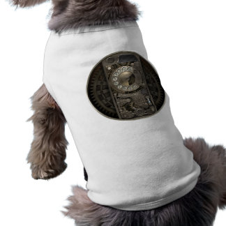 Steampunk Device - Rotary Dial Phone. Dog T-shirt