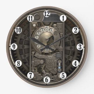 Steampunk Device - Rotary Dial Phone. Large Clock