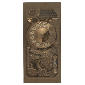 Steampunk Device - Rotary Dial Phone. Wood Flash Drive
