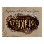 Steampunk dirige la postal de los engranajes