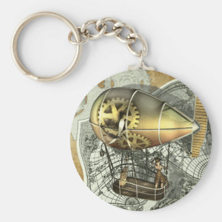 Steampunk Dirigible Air Tour Keychain