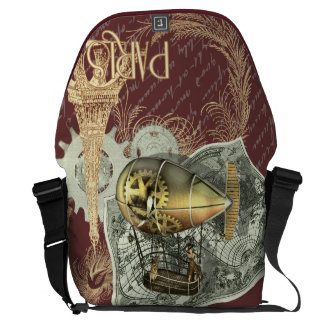 Steampunk Dirigible Air Tour Large Courier Bag