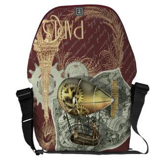 Steampunk Dirigible Air Tour Large Courier Bag