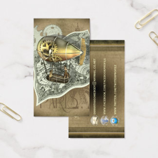 Steampunk Dirigible Air Tour Profile Cards