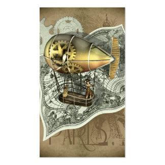 Steampunk Dirigible Air Tour Profile Cards Business Card