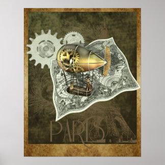 Steampunk Dirigible Air Tour Wall Print