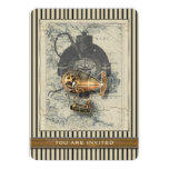 Steampunk Dirigible Balloon Ride Any Ocassion Card