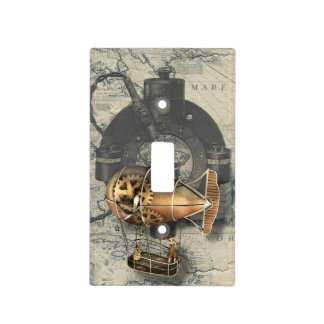 Steampunk Dirigible Balloon Ride Light Switch Cover