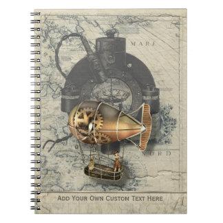 Steampunk Dirigible Balloon Ride Notebook