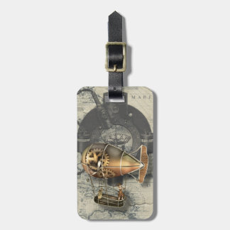 Steampunk Dirigible Balloon Ride Tag For Bags