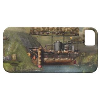 Steampunk - dirigible - la arca del Noah original iPhone 5 Funda