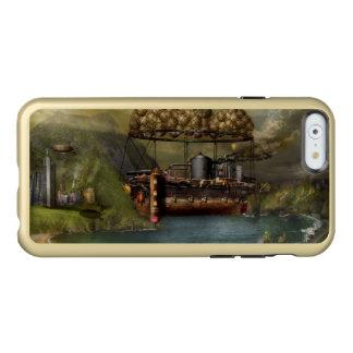 Steampunk - dirigible - la arca del Noah original Funda Para iPhone 6 Plus Incipio Feather Shine