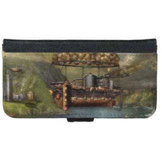 Steampunk - dirigible - la arca del Noah original Funda Cartera Para iPhone 6