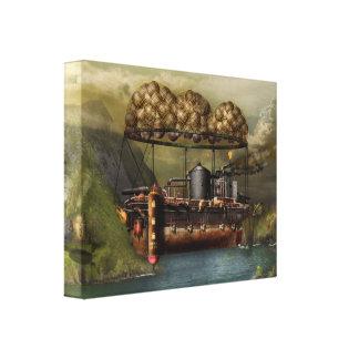 Steampunk - dirigible - la arca del Noah original Impresiones De Lienzo
