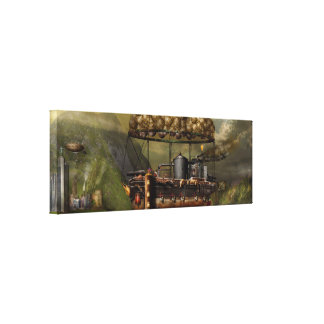 Steampunk - dirigible - la arca del Noah original Impresión De Lienzo