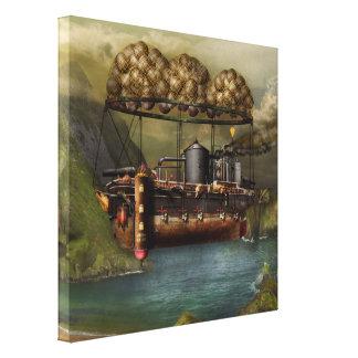 Steampunk - dirigible - la arca del Noah original Impresion En Lona
